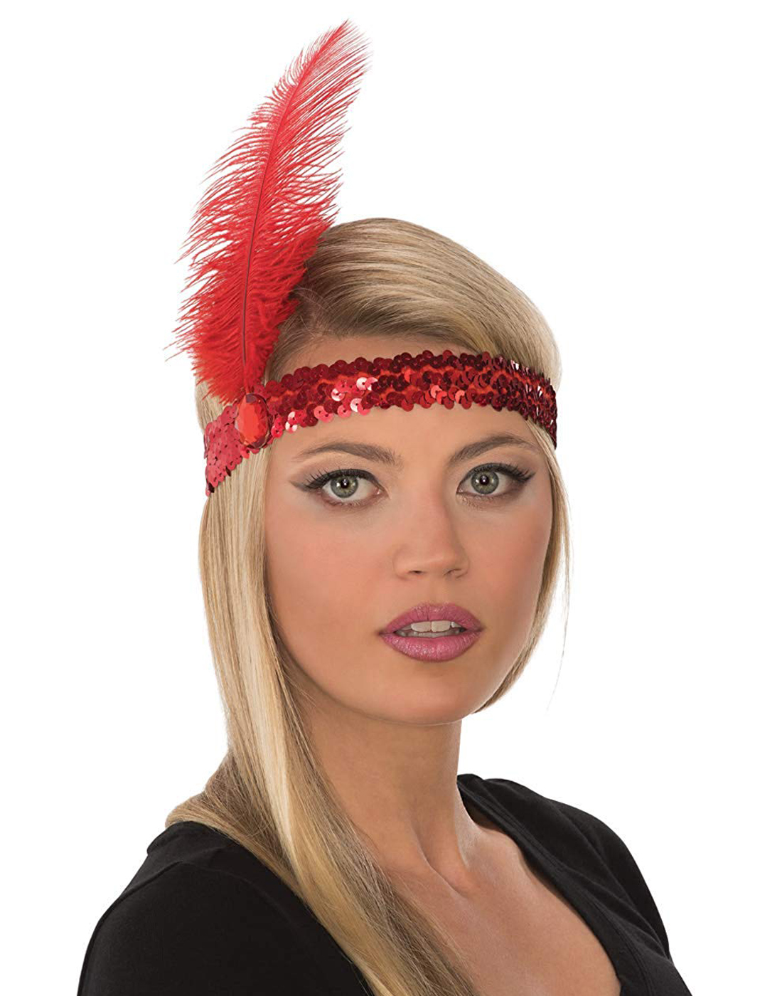 Multiple Colors! Roaring 20s Flapper Headband /& Plume
