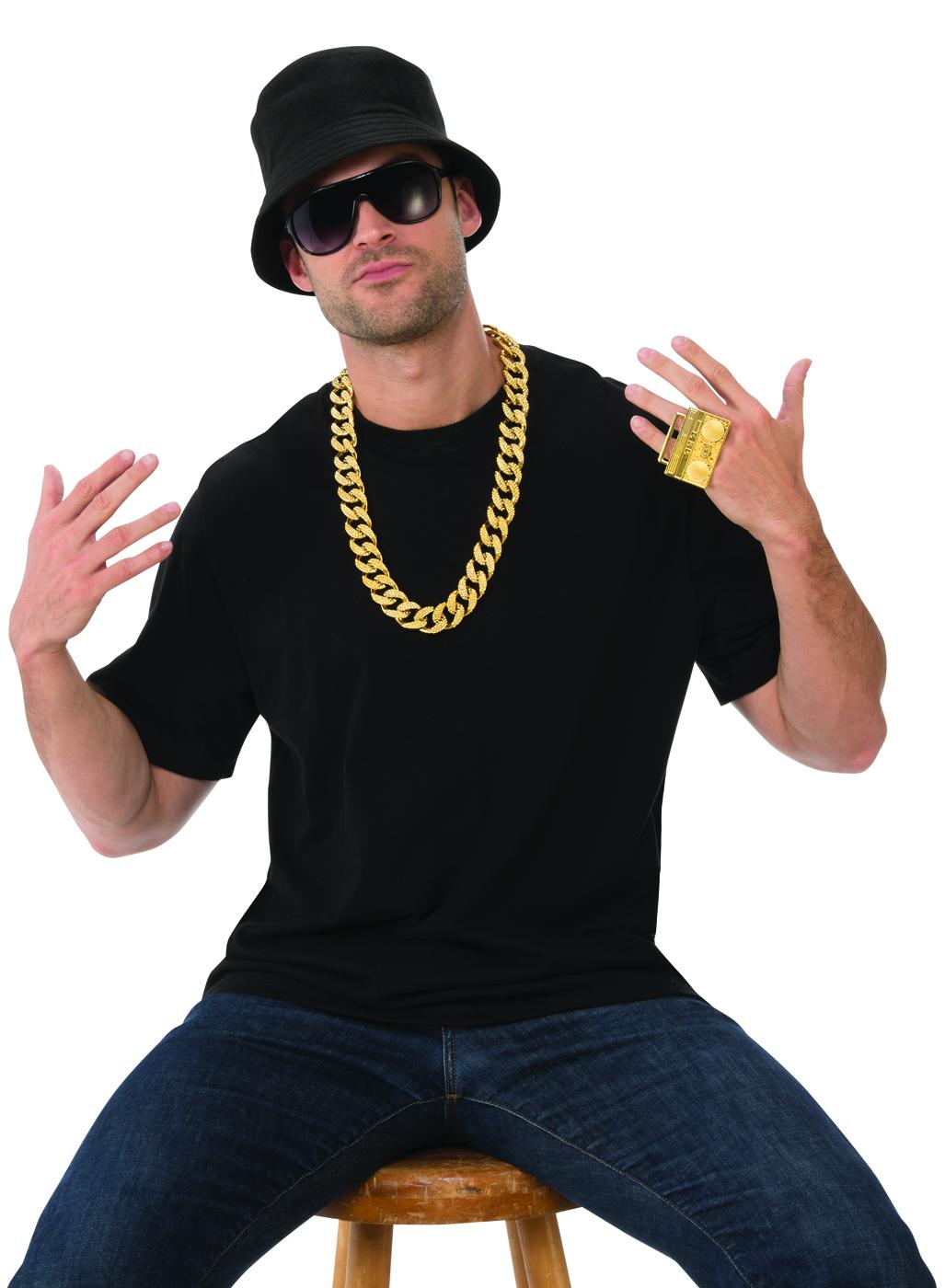Deluxe Vieja Escuela Rapero Para Hombre Adulto Disfraz De Hip Hop ... 26ee5fb8cc3