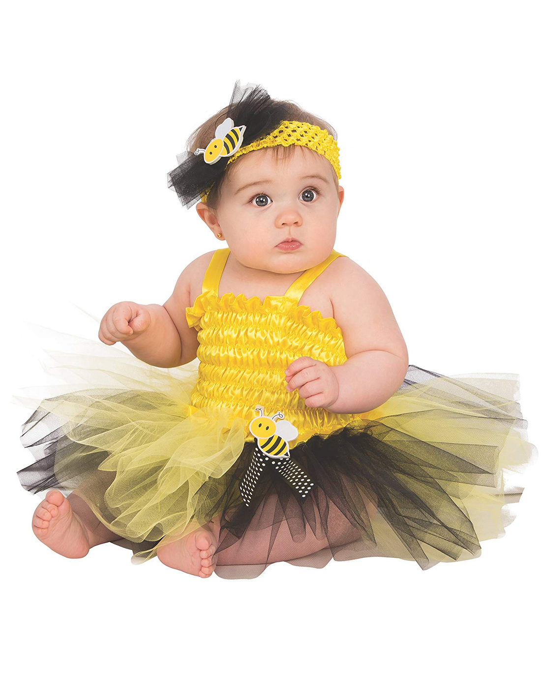 c2a3df12c393a Details about Bumble Bee Girls Infant Cute Insect Yellow Tutu Halloween  Costume