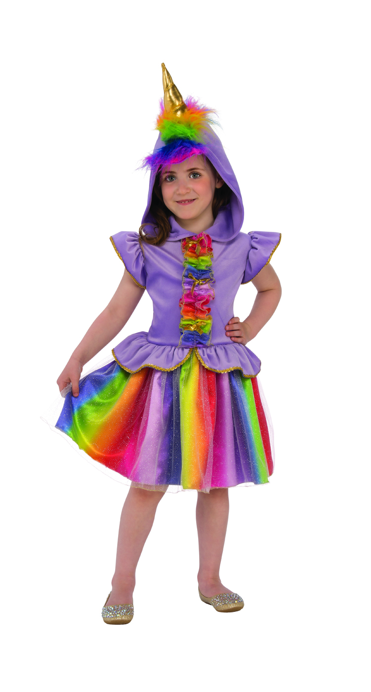 809aaa0d86 Details about Unicorn Girls Purple Tutu Rainbow Magical Horse Halloween  Costume