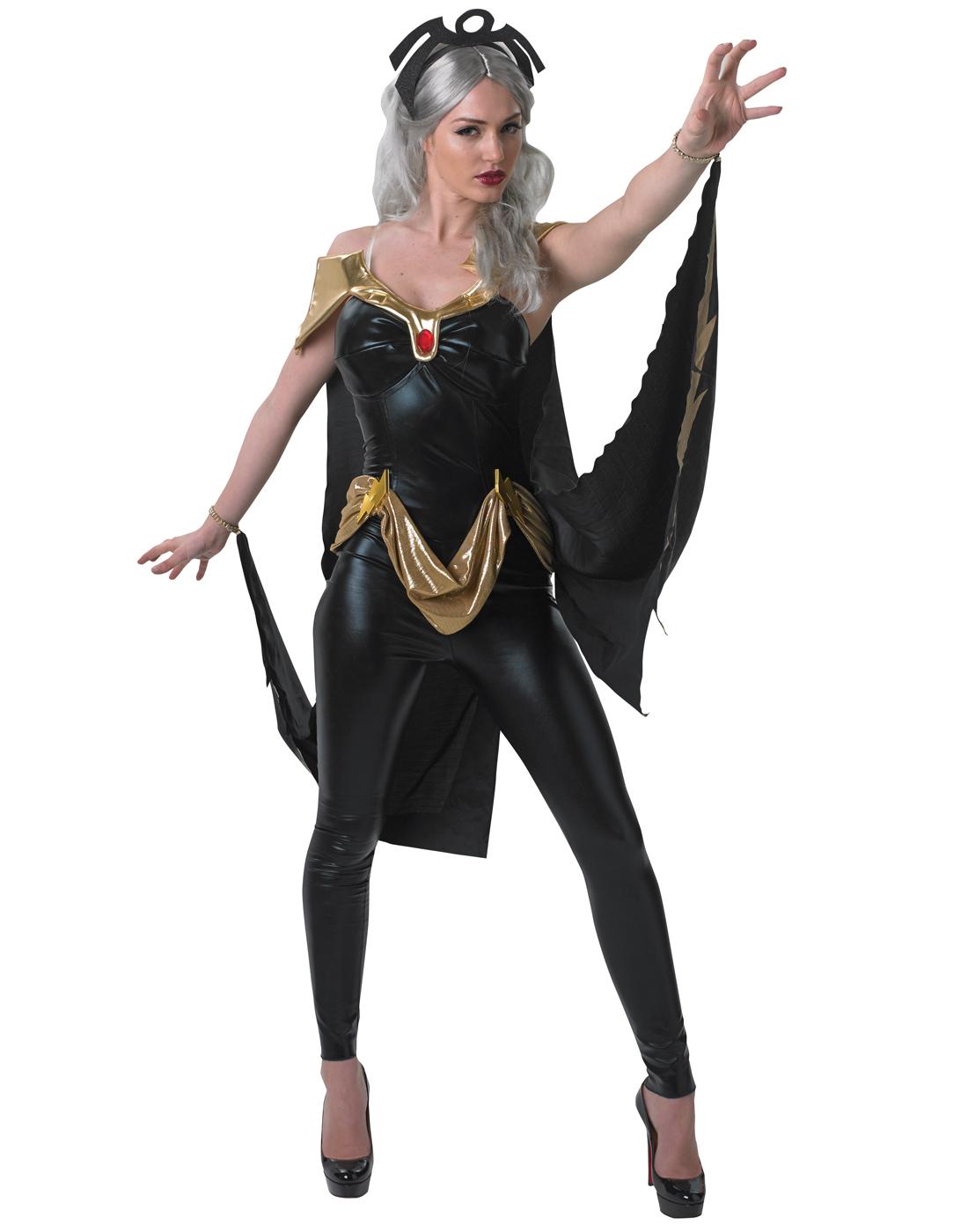 Détails sur Marvel Univers Femmes X,Men Storm Noir Costume Chat Combinaison