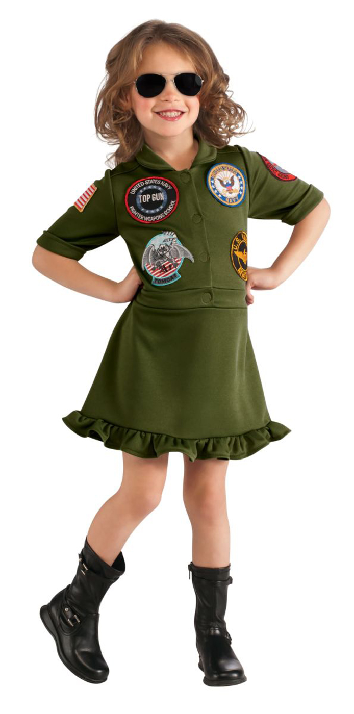 top gun movie naval fighter pilot girls halloween costume