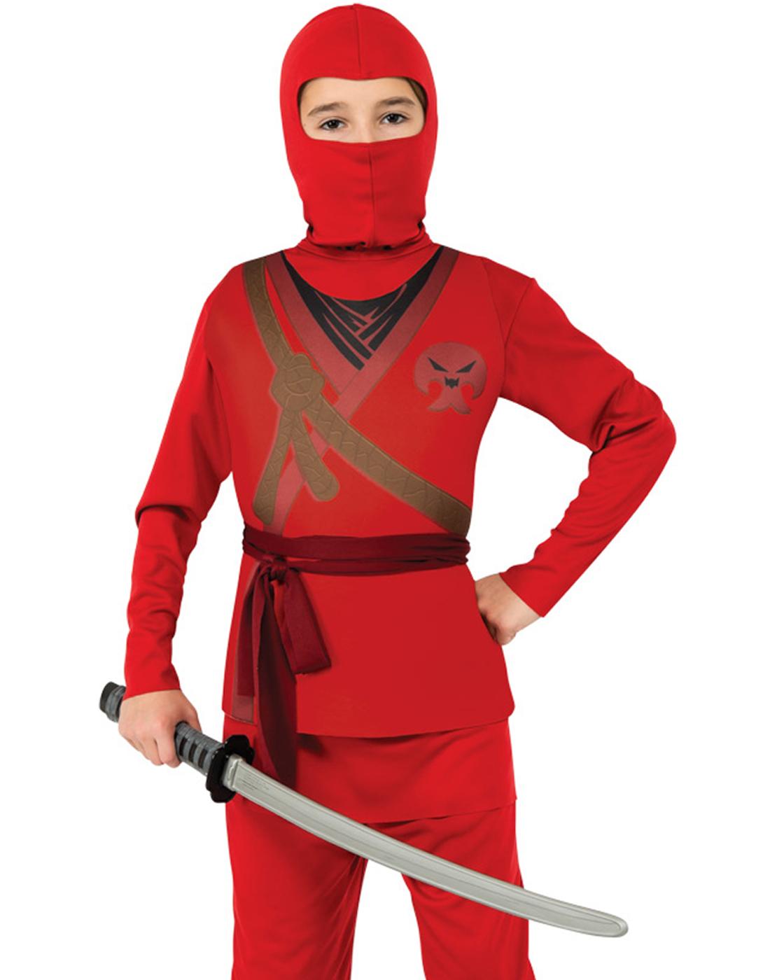 Karate Kid Halloween Costume.Details About Ninja Boy Karate Kid Red Hooded Scarf Halloween Child Fancy Dress Up Costume