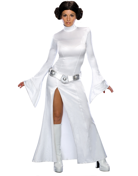 Details about Plus Size Star Wars Princess Leia White Long Dress Halloween  Costume Outfit Set
