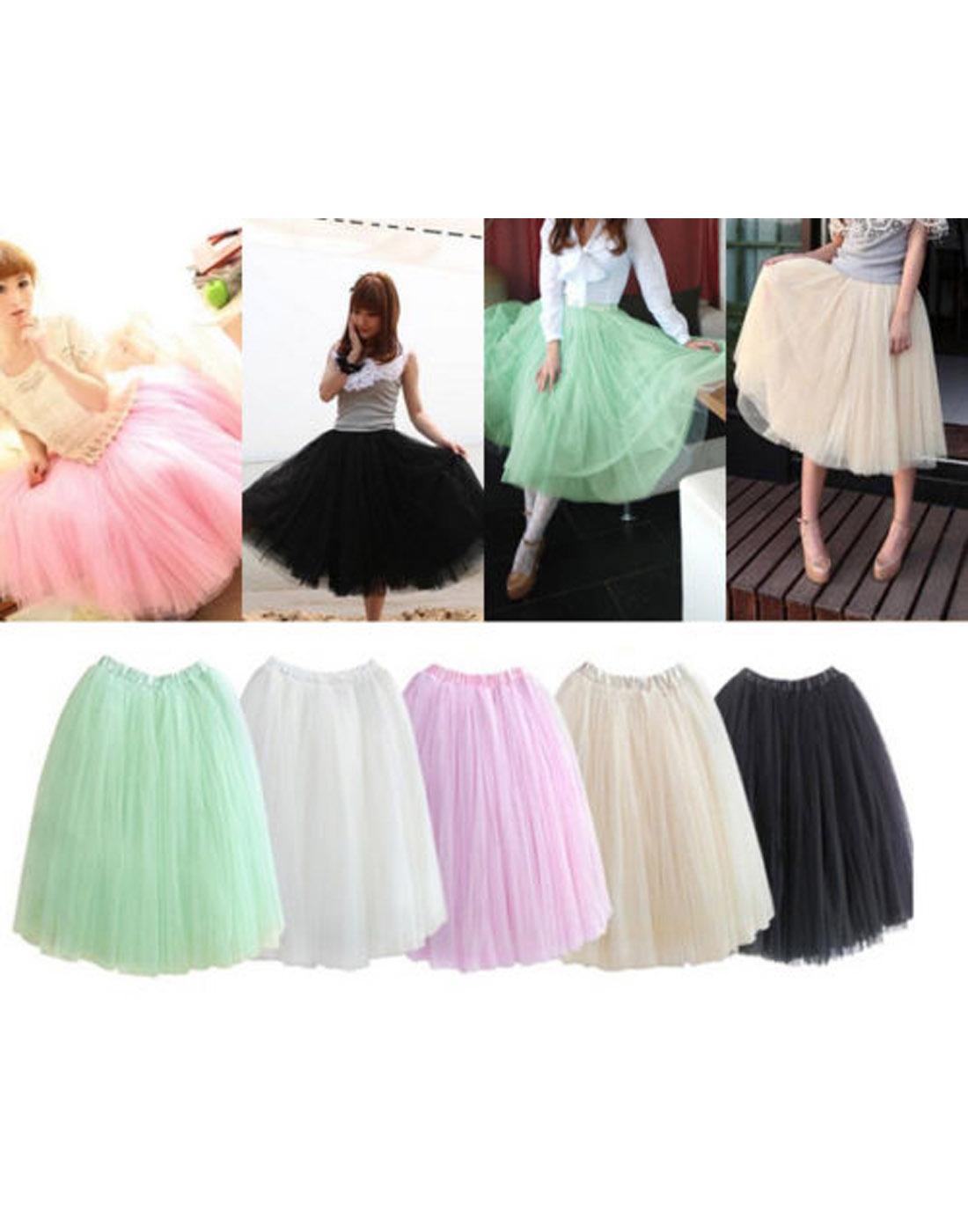 Petticoat Ballerina Ballet Dancer Tulle Long Tutu Skirt ...