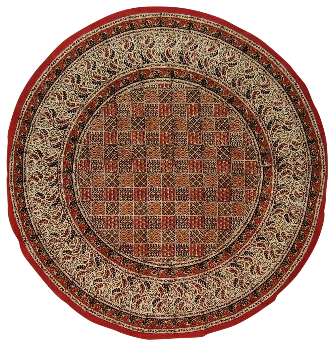 Kalamkari Block Print Round Cotton Tablecloth 72 Quot Multi