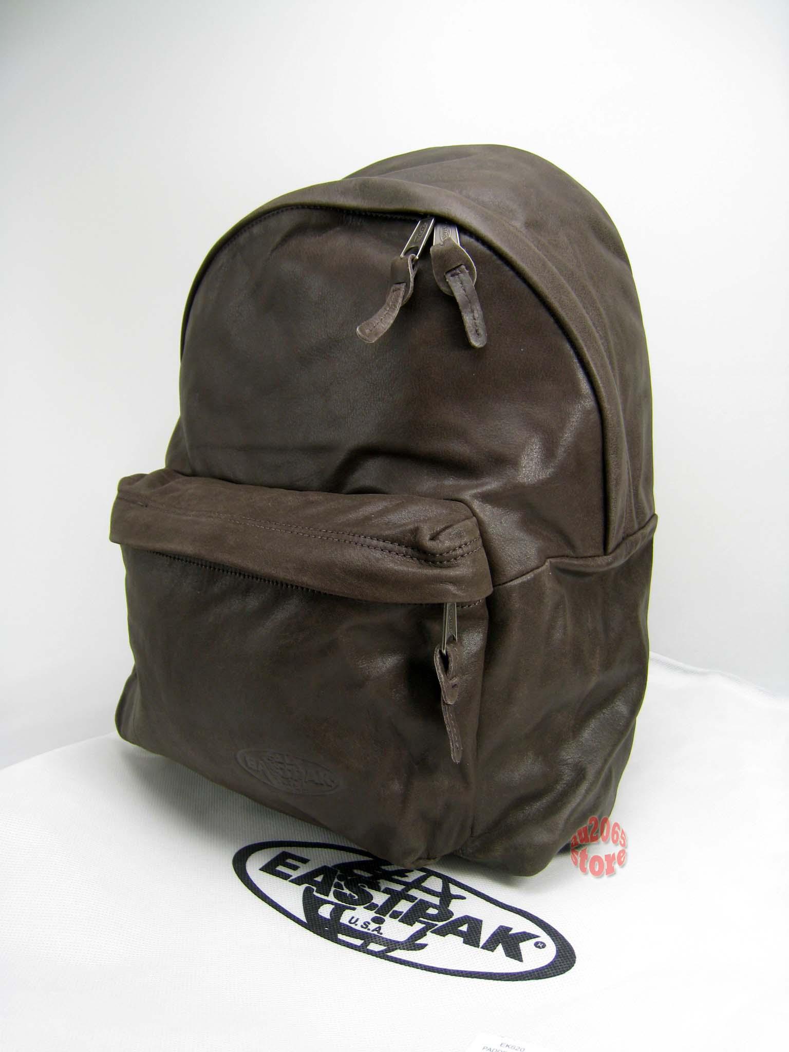 Leather Eastpak Backpack