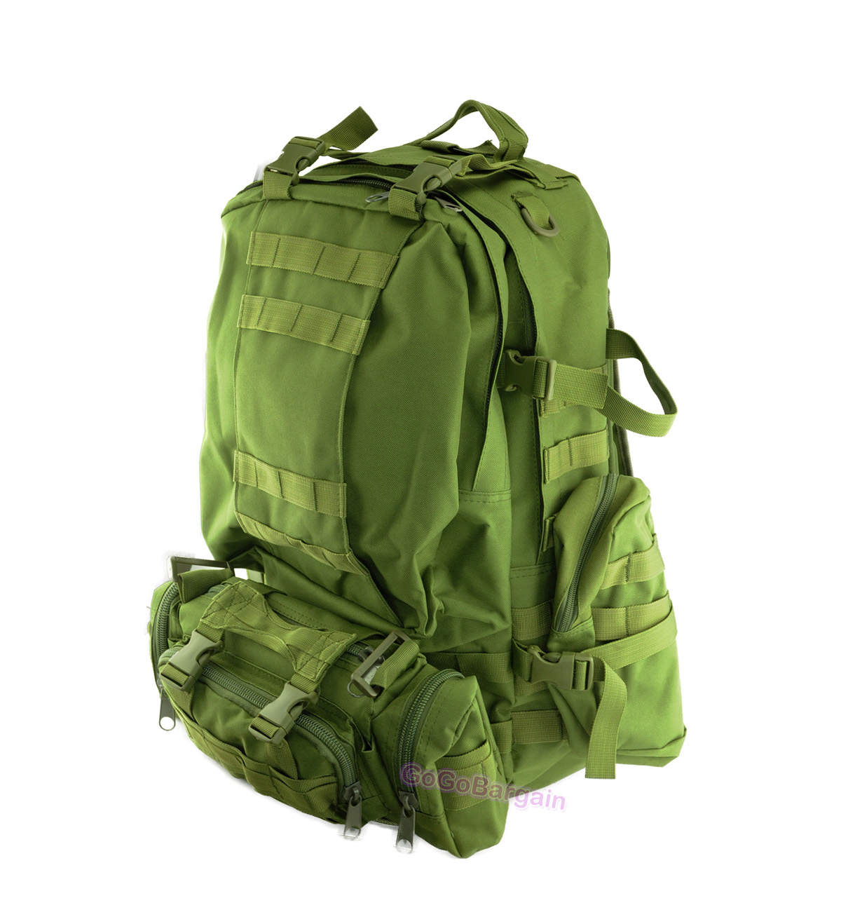 b0474a884b4f Tactical Survival Day pack Camping Hiking Molle Backpack Rucksacks ...