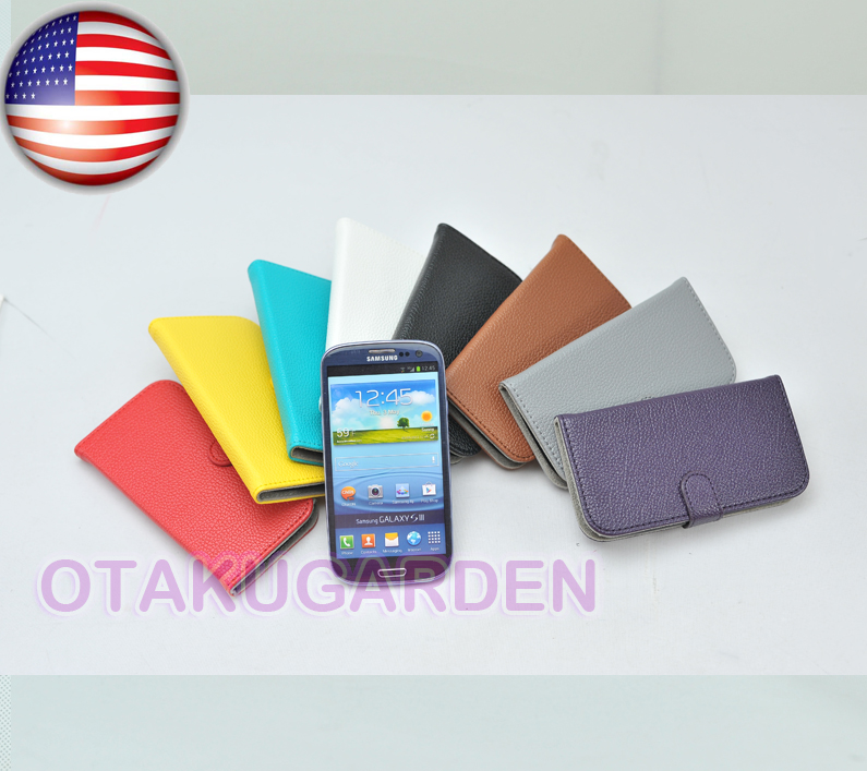 new product 1e278 185ee Details about PU Leather Flip Case Cover Credit card holder For Samsung  Galaxy S3 SIII i9300