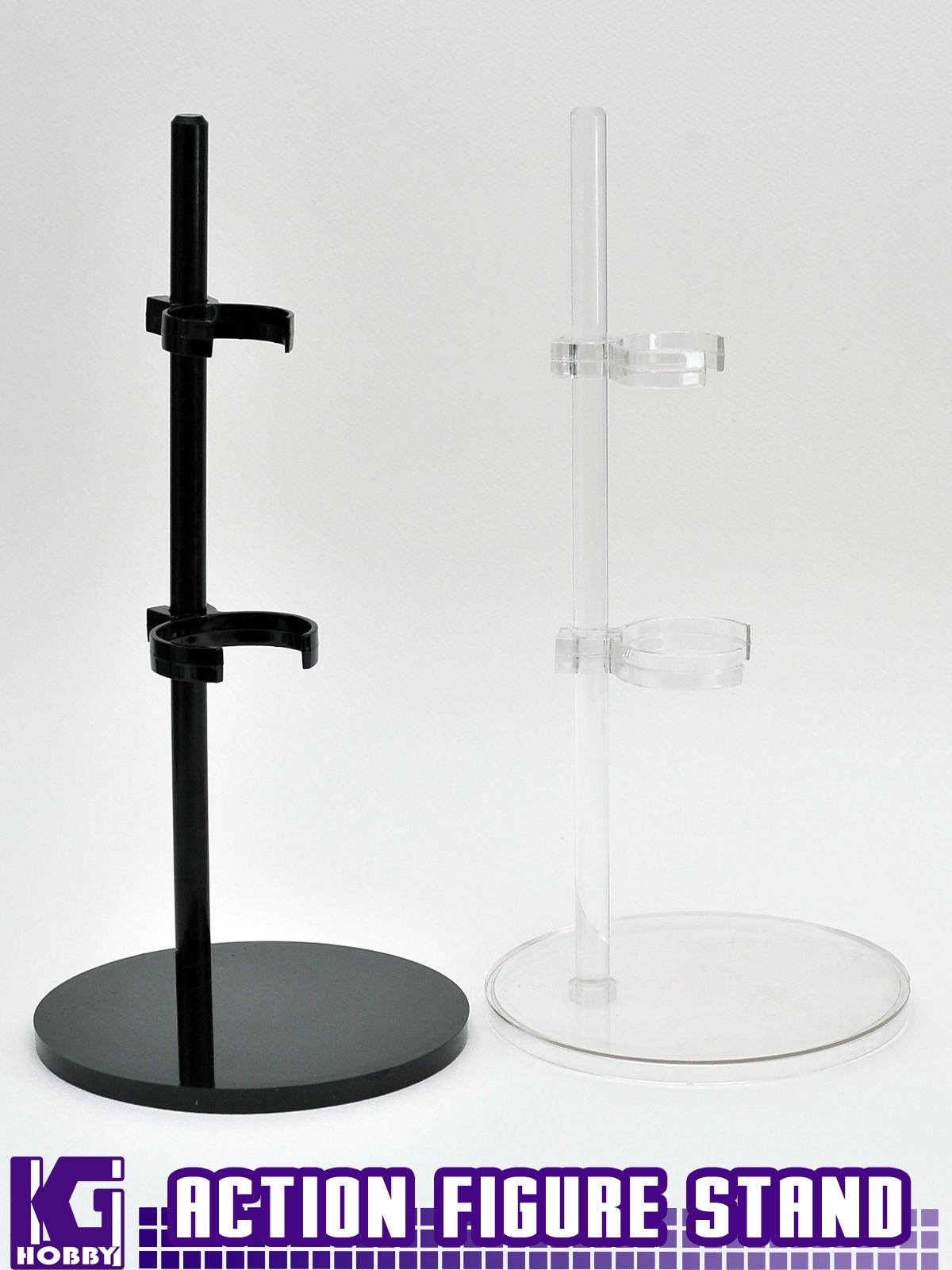 BLACK Adjustable Action Figure Model Kit Plastic Display Sta