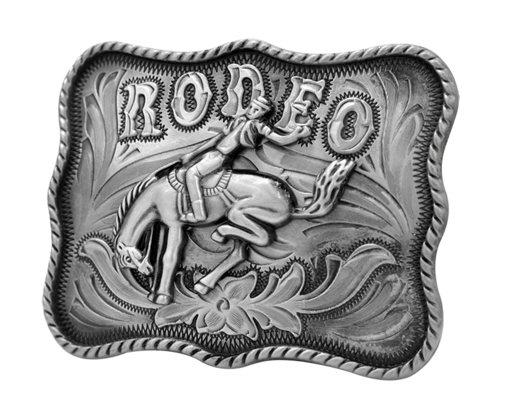 Rodeo Mare Riding Western Belt Buckle Bucking Horse Bull ...