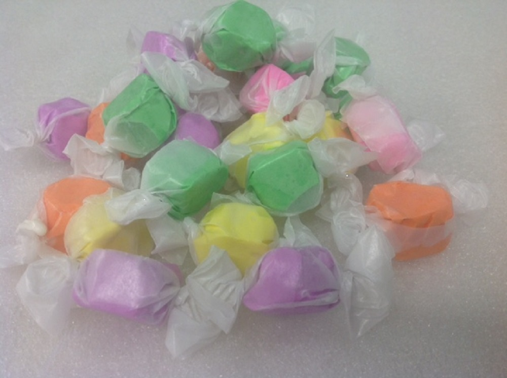 Details about Spring Salt Water Taffy Wrapped Kisses Easter 1 pound Pastel  Candy
