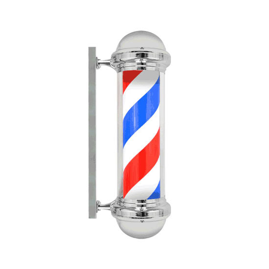 "New 30"" Barber Shop Pole Light Red White Blue Stripes"