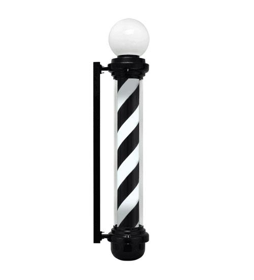 """Large 40"""" Barber Pole Light Black White Retro Rotating"""