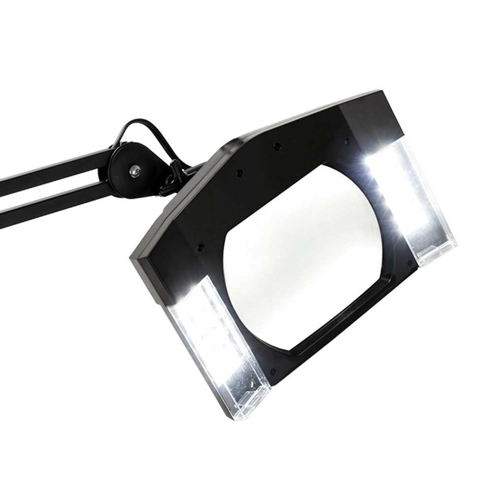 magnifying lamp light w stand facial magnifier w rolling base ebay. Black Bedroom Furniture Sets. Home Design Ideas