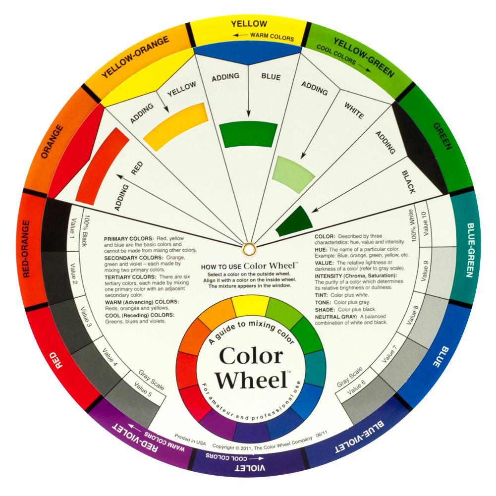 Tattoo Ink Pigment Color Wheel Permanent Makeup Paper Card ... |Makeup Color Wheel