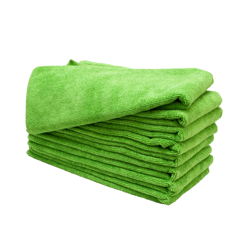 "Green Microfiber Towel: 8 LIME Green 15"" X 24"" Microfiber Salon Towels Bleach"