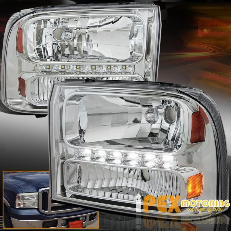 brightest led drl bar 1999 2004 ford f250 f350 super. Black Bedroom Furniture Sets. Home Design Ideas