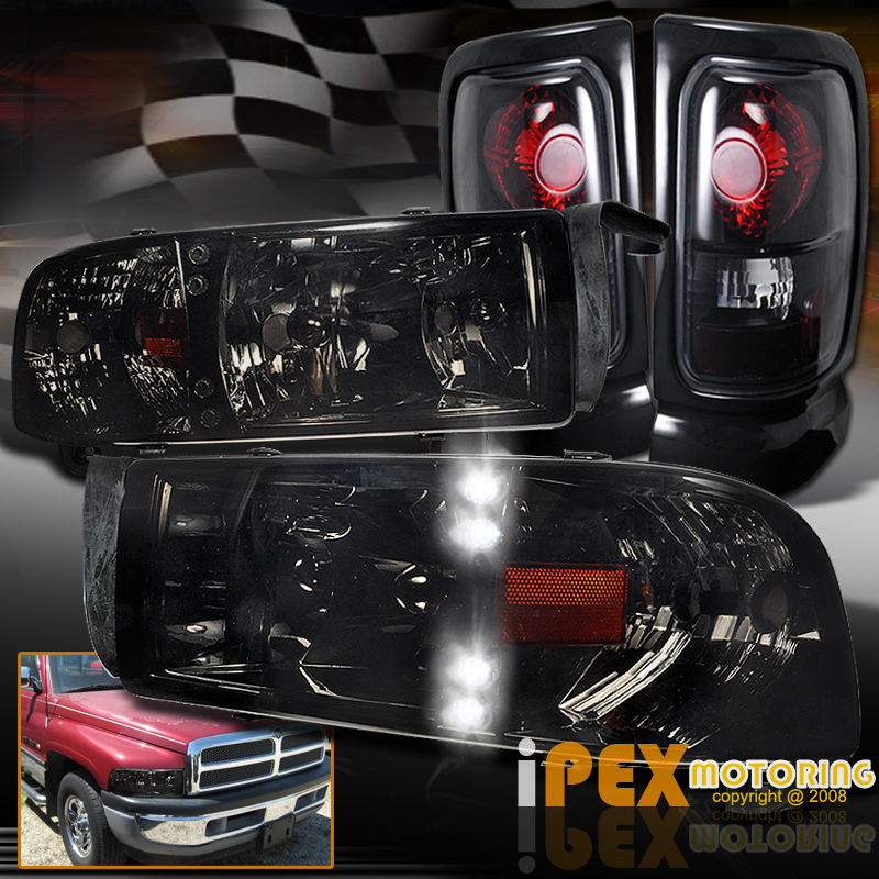 Sport Package Dodge RAM Pickup Black - 1-Pair Replacement Tail Light Unit