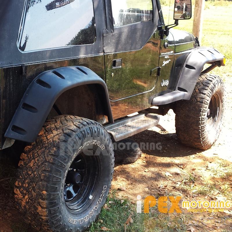 6PC Set Jeep Wrangler 1998-2006 TJ Wide Extended Black