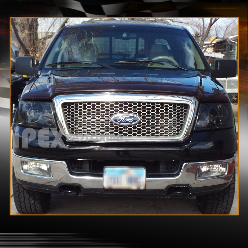 limited black out 2004 2008 ford f150 f 150 fx4 xlt stx lariat smoke headlight lh f15004g rs f. Black Bedroom Furniture Sets. Home Design Ideas