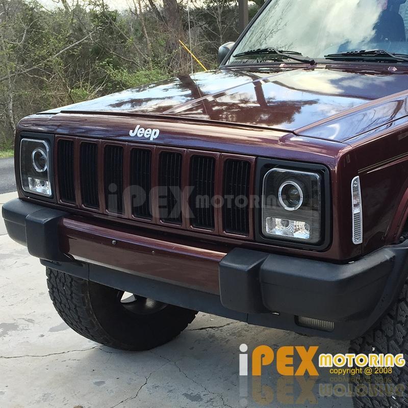 jeep xj halo headlights wiring 1997-2001 jeep cherokee halo projector led black headlights w/ signal lights | ebay 97 jeep xj speed sensor wiring diagram