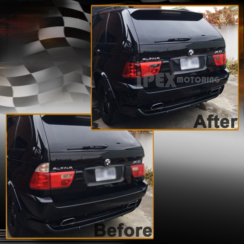 20012003 BMW X5 E53 5Series Black Halo LED Head Light W Smoke