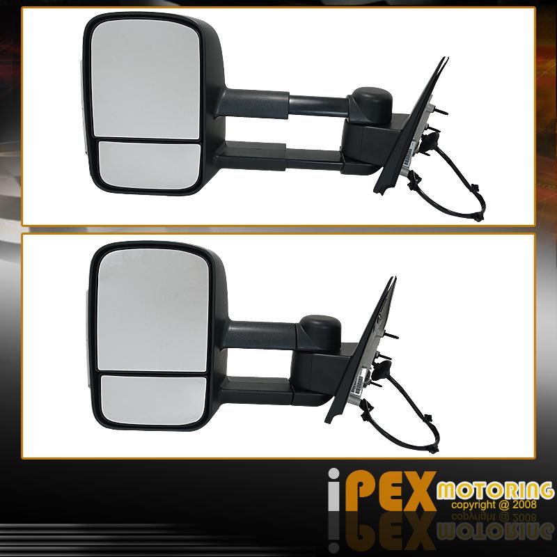 heat power led signal 2014 2015 chevy silverado gmc sierra 1500 tow side mirrors ebay. Black Bedroom Furniture Sets. Home Design Ideas