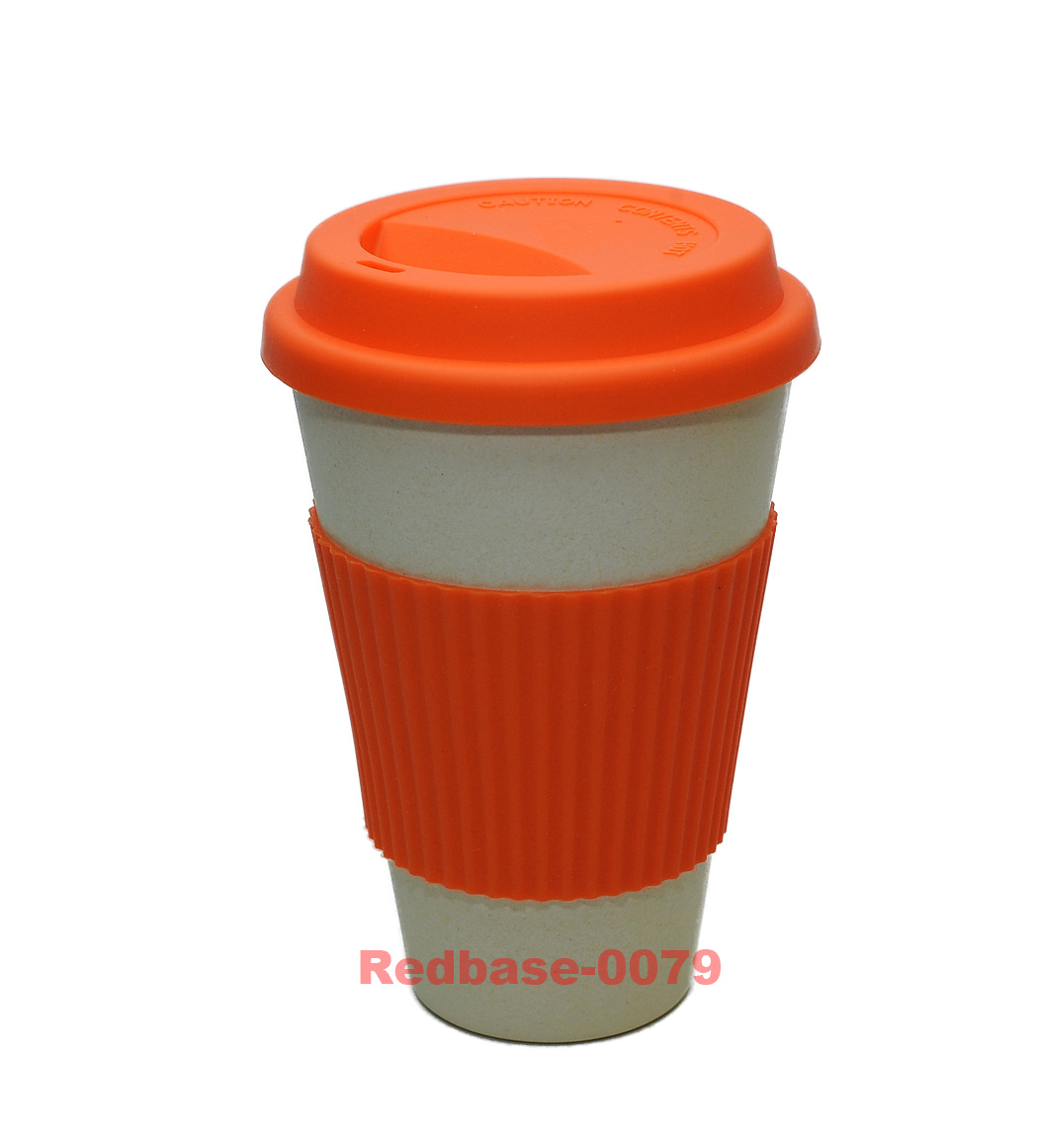 reusable eco friendly bamboo fibre nature travel coffee mug cup ebay. Black Bedroom Furniture Sets. Home Design Ideas