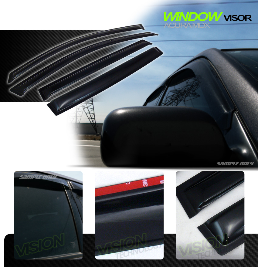 JDM Rain/Wind Guard Vent Dark Shade Deflector Window