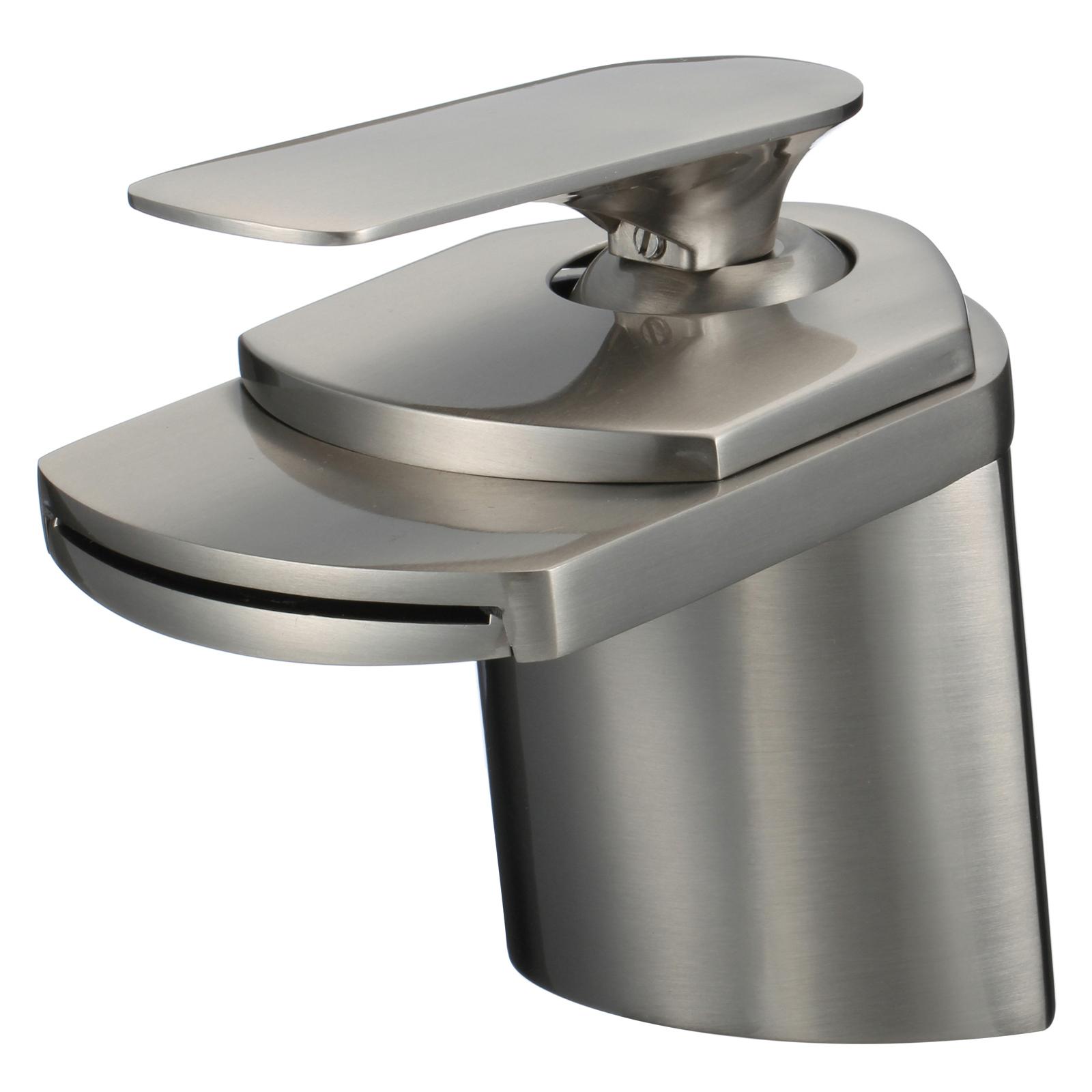 "6"" Modern Bathroom Sink Faucet - Single Hole / Handle"
