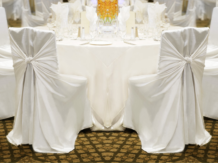 100 White Satin Universal Self Tie Chair Covers Wedding Ebay
