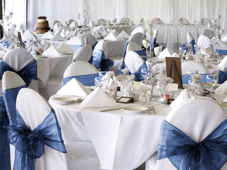 10 Navy Blue Organza Chair Cover Sash Bow Wedding Party Ebay