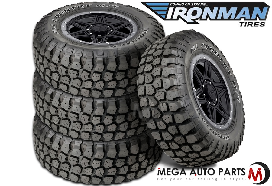 4 x new ironman all country m t 121q owl all terrain mud tires ebay. Black Bedroom Furniture Sets. Home Design Ideas