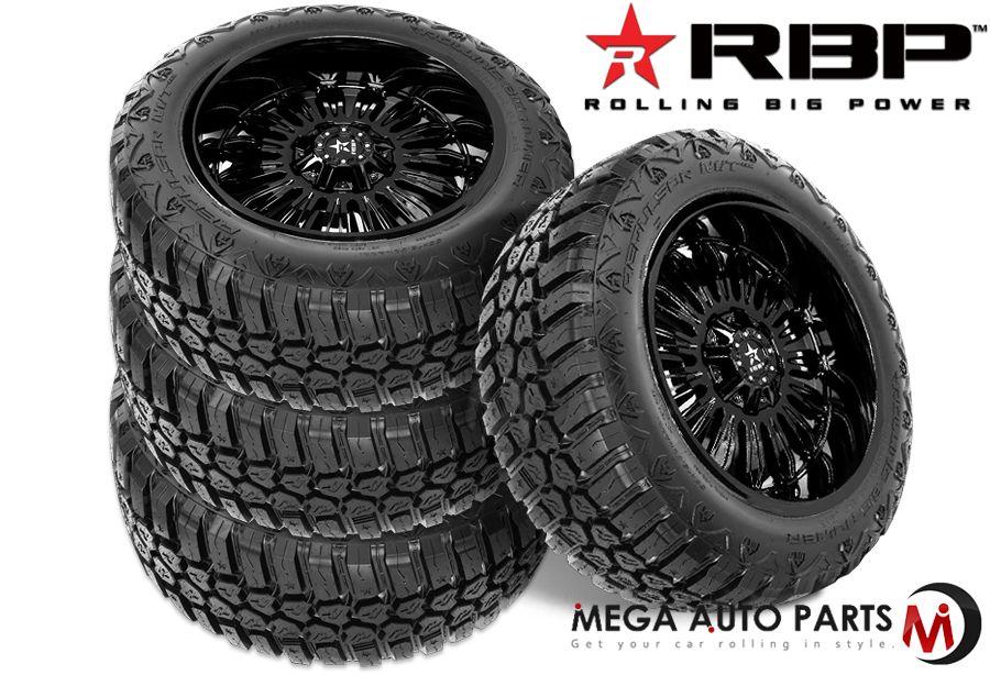 Truck Mud Tires >> Detalles Acerca De 4 Rbp Repulsor M T Rx 33x12 50r18lt 118q 10 Ply E Off Road Truck Mud Tires