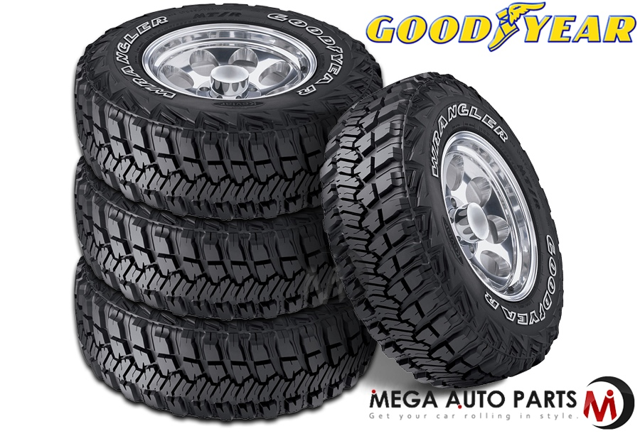 Best Off Road Tires >> Details About 4 Goodyear Wrangler Mt R With Kevlar Lt245 75r17 121q Mud Terrain Off Road Tires