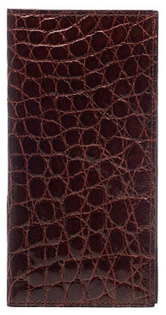 Ferrini Wallet Mens Checkbook Cover Croc Exotic Cash