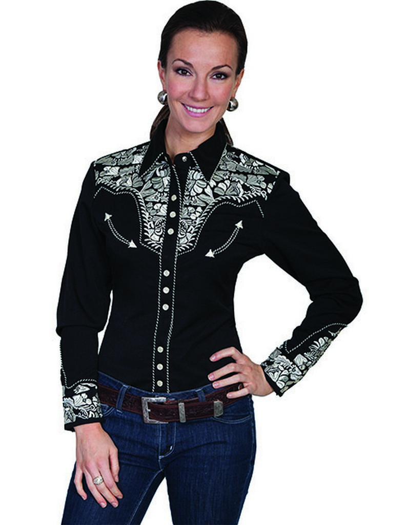 eb679cb4a63059 Long sleeve Western shirts for women are a Western wardrobe staple! Our long  sleeve Western