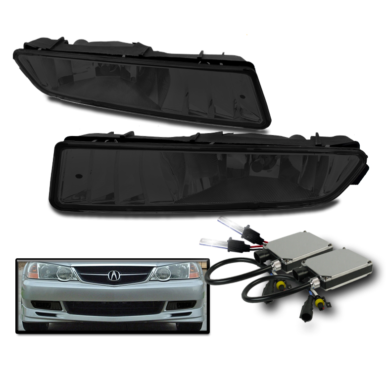 FOR 2002-2003 ACURA TL SMOKE FRONT DRIVING FOG LIGHT W