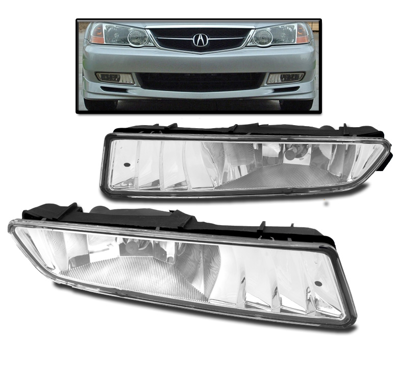FOR 2002-2003 ACURA TL CHROME FRONT BUMPER FOG LIGHTS