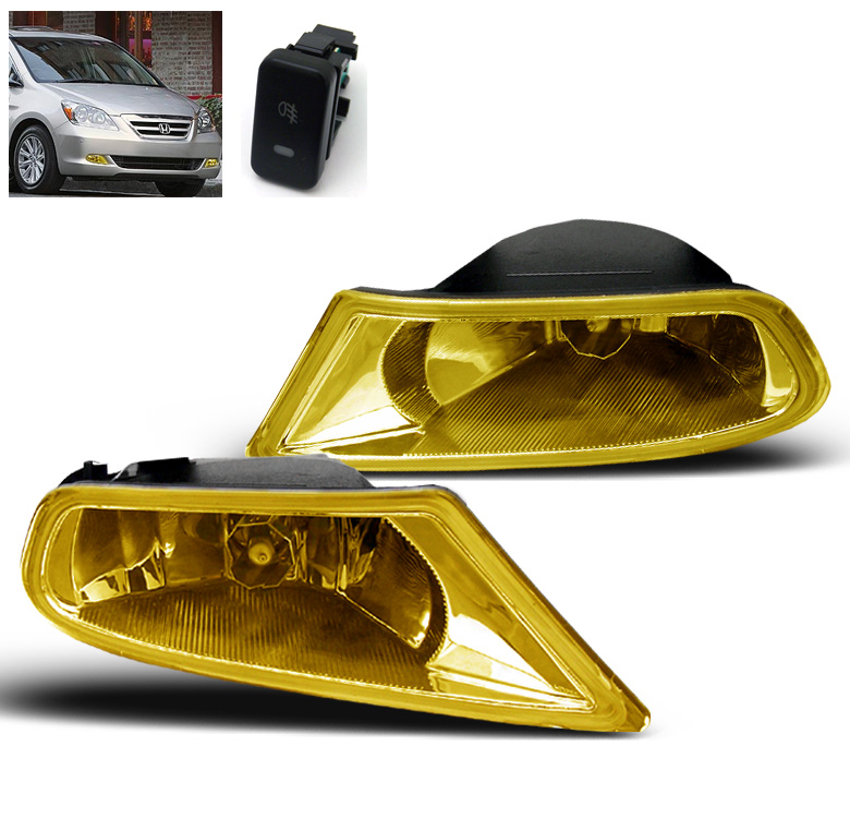 2005 2006 2007 Honda Odyssey Yellow Front Bumper Driving