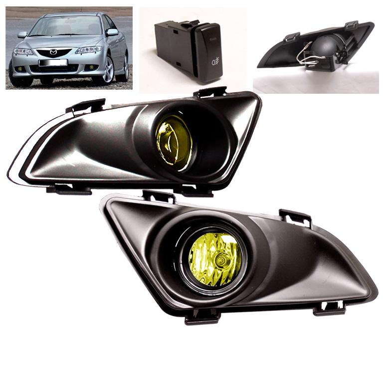 2003 2004 2005 Mazda 6 Amber Driving JDM Bumper Fog Light Lamp Harness