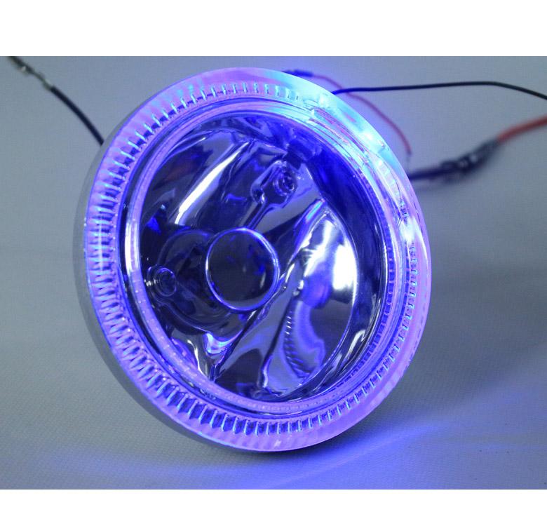 "UNIVERSAL 3/"" BUMPER HALO FOG LIGHT LAMP W//SWITCH KIT CHROME DODGE EAGLE FORD GMC"