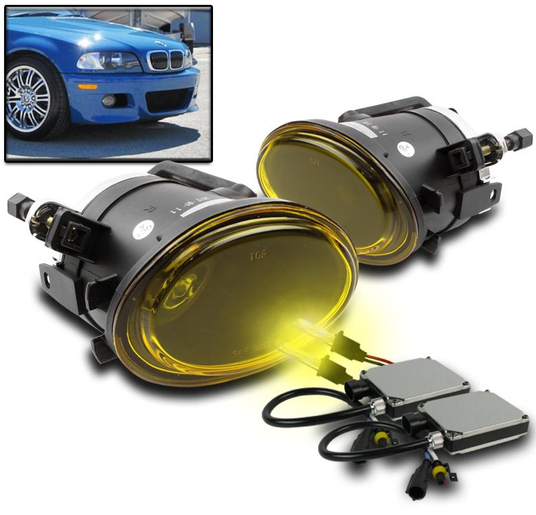 2001-06 BMW E46 M3//2000-03 E39 M5//2003-05 330 SMOKE BUMPER FOG LIGHT+6K HID PAIR