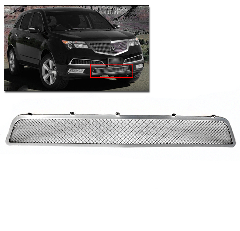 ACURA 2010 2011 2012 2013 MDX FRONT BUMPER STAINLESS STEEL
