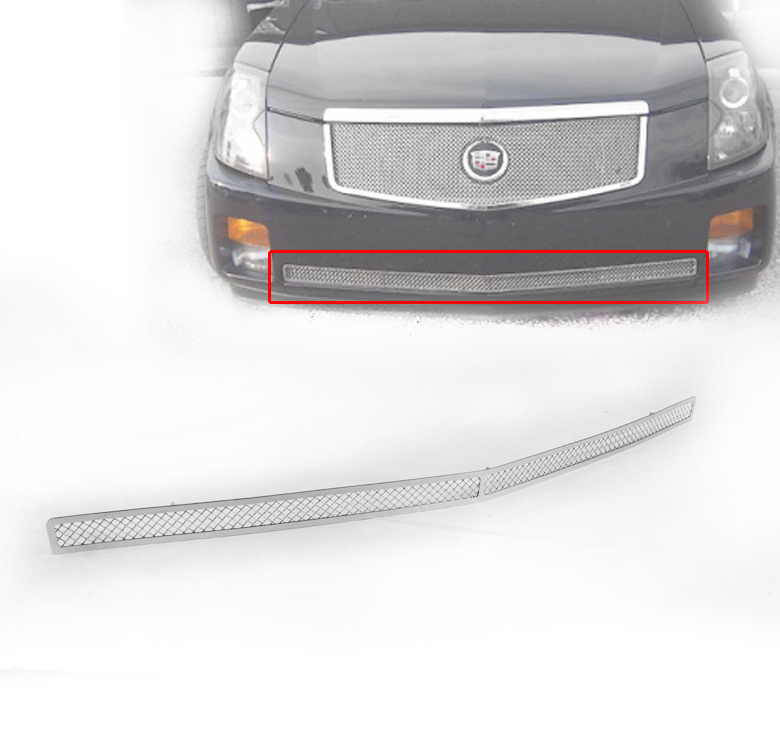 2003-2007 CADILLAC CTS CHROME 1P FRONT LOWER BUMPER MESH