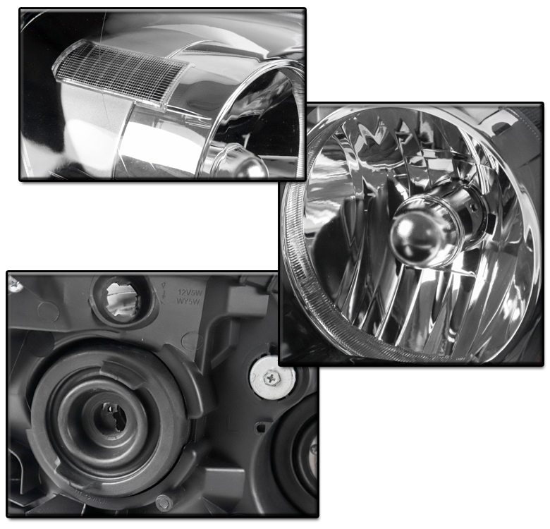 FOR 2005 2006 ACURA RSX DC5 REPLACEMENT BLACK HEADLIGHT