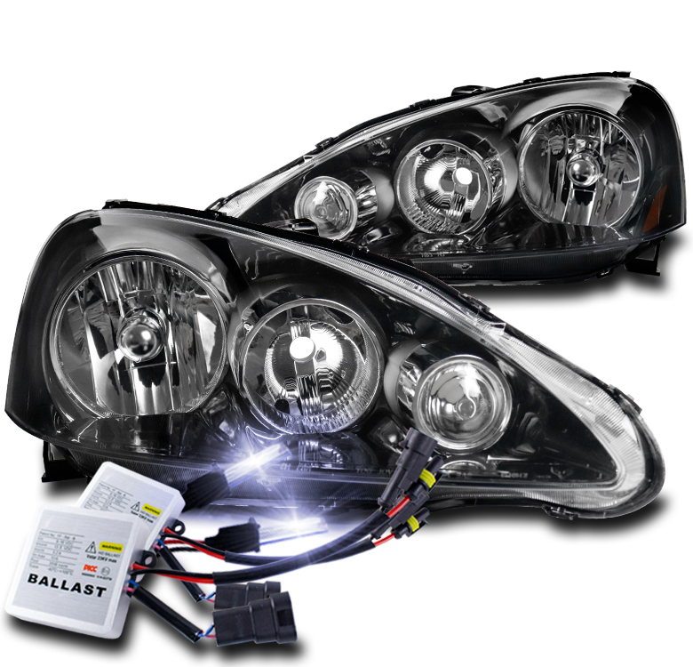 FOR 2005 2006 ACURA RSX DC5 BLACK REPLACEMENT HEADLIGHTS
