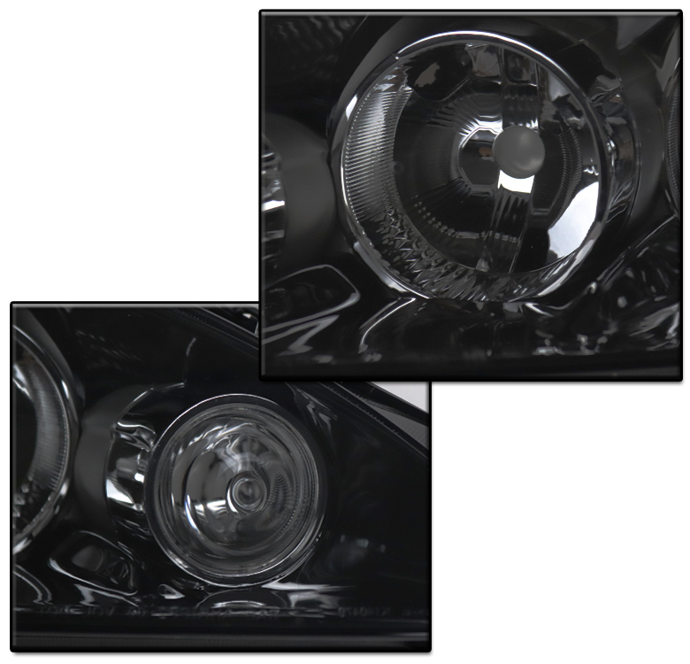 FOR 2005 2006 ACURA RSX DC5 REPLACEMENT BLACK/SMOKE SET