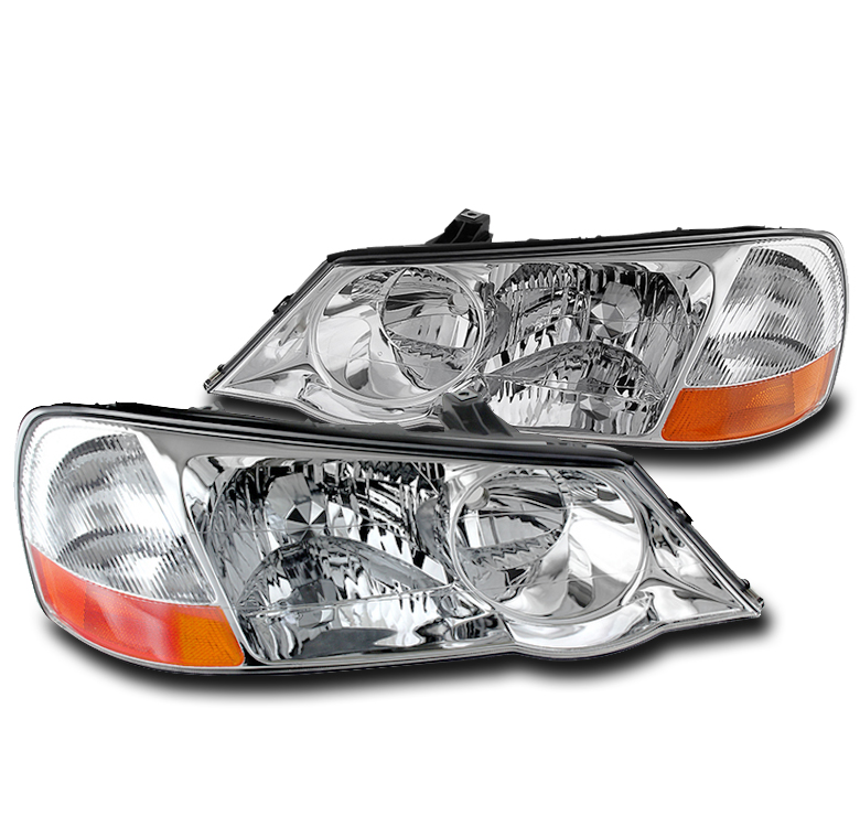 FOR 2002-2003 ACURA TL (FACTORY HID) CHROME REPLACEMENT